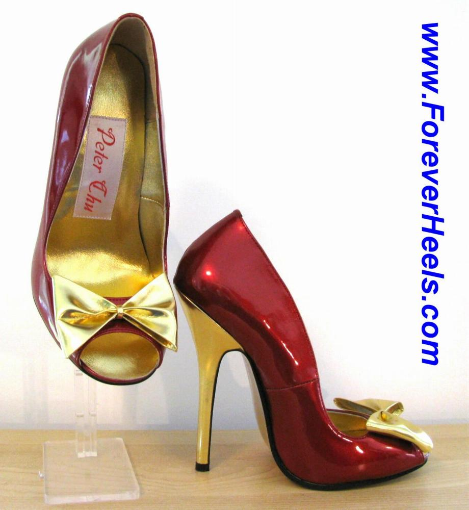 Open Toe High Heel Pumps with Front Bow Tie