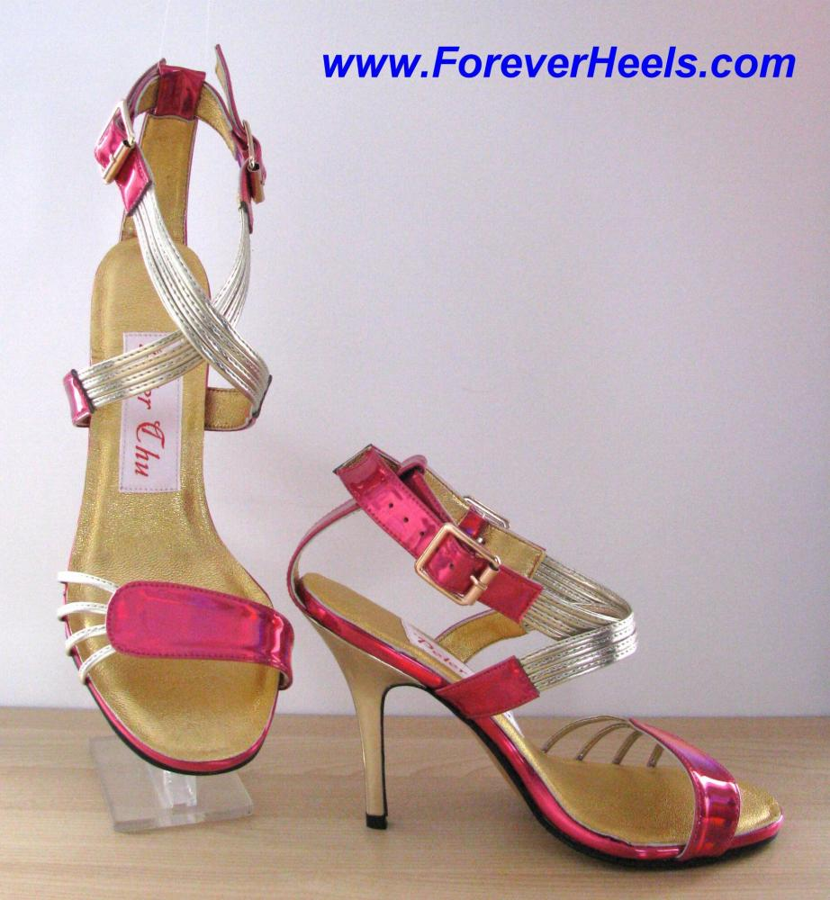 Quadruple Instep Strap Special Toe Strap High Heel Sandals