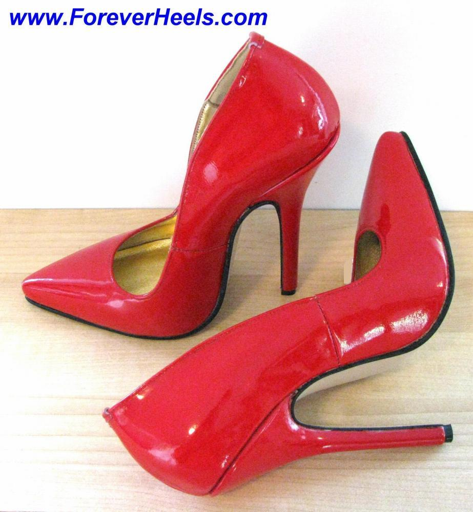 V-Shape Sharp Pointed Toe 14cm (5.3 inch) Heel High Heel Pumps