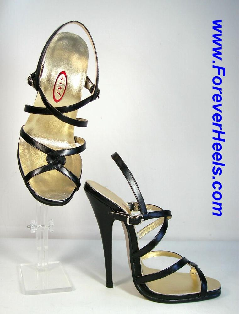 Double Cross Strap High Heel Sandals