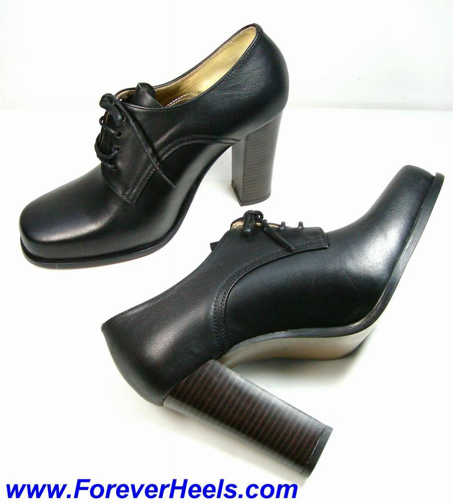 Men's High Block Heel Shoes
