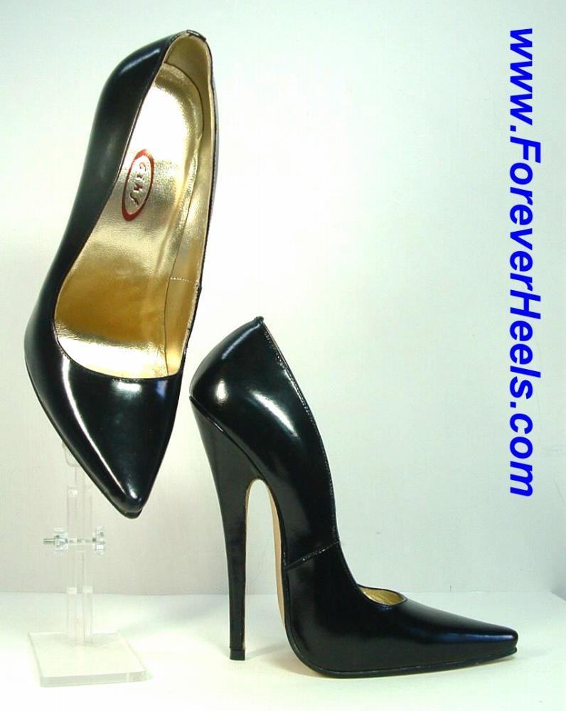 V-Shape Sharp Pointed Toe 16cm Heel Extreme High Heel Pumps