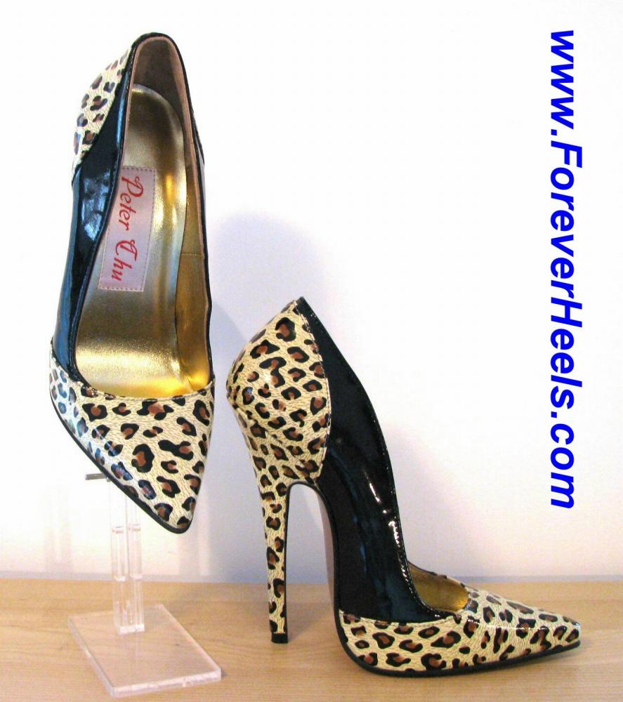 Leopard Print Heeled Sandals Image Alternatetext