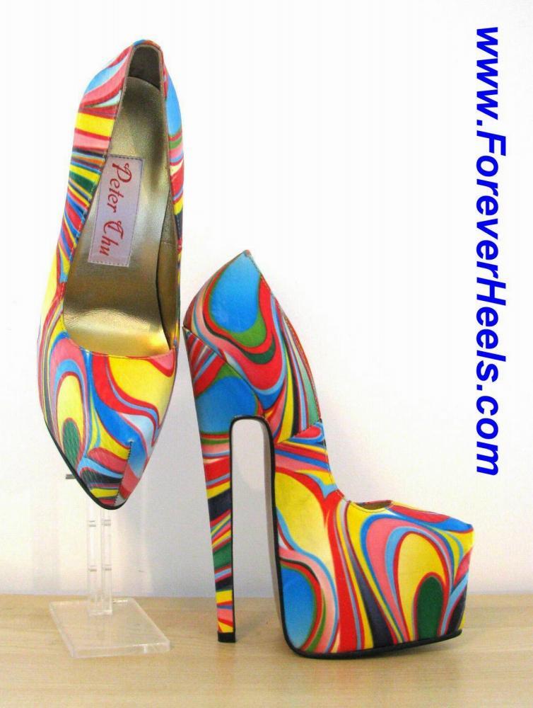 Super 20cm Heel Extreme High Heel Pumps with Hidden Platform