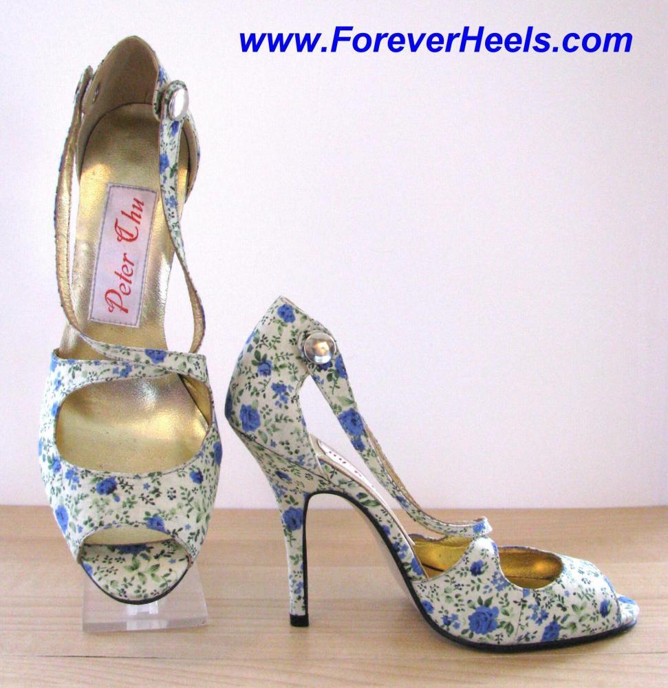 Open Toe Cross Instep Strap Closed Heel High Heel Sandals