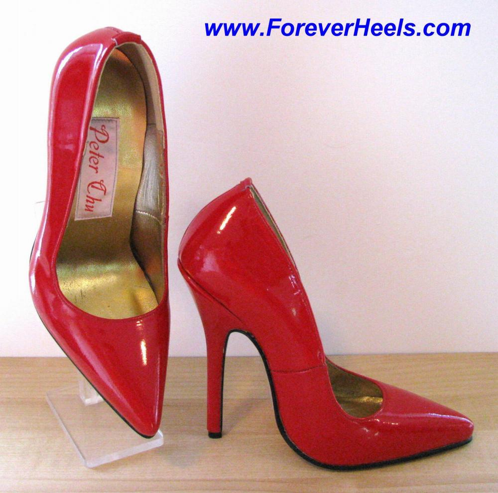 2c4d8b2882f Picture  1 Click Here to Enlarge V14 14cm (5.3 inch) Heels China Size 38  Red Patent Leather