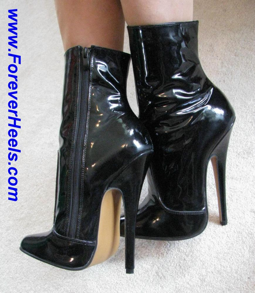 Ankle High Stiletto High Heel Boots (Shaft Height Above the Ankles)