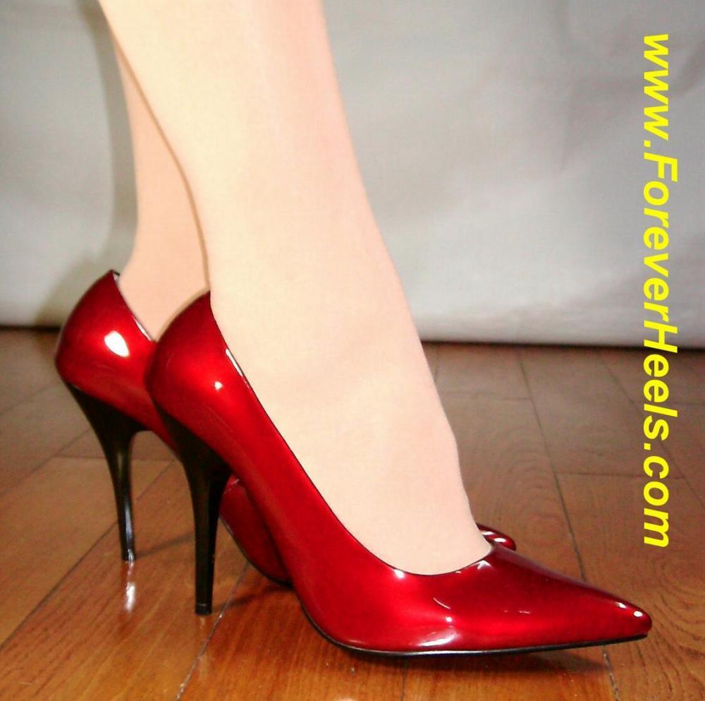 Classic Dual Color Tapered Heel High Heel Pumps