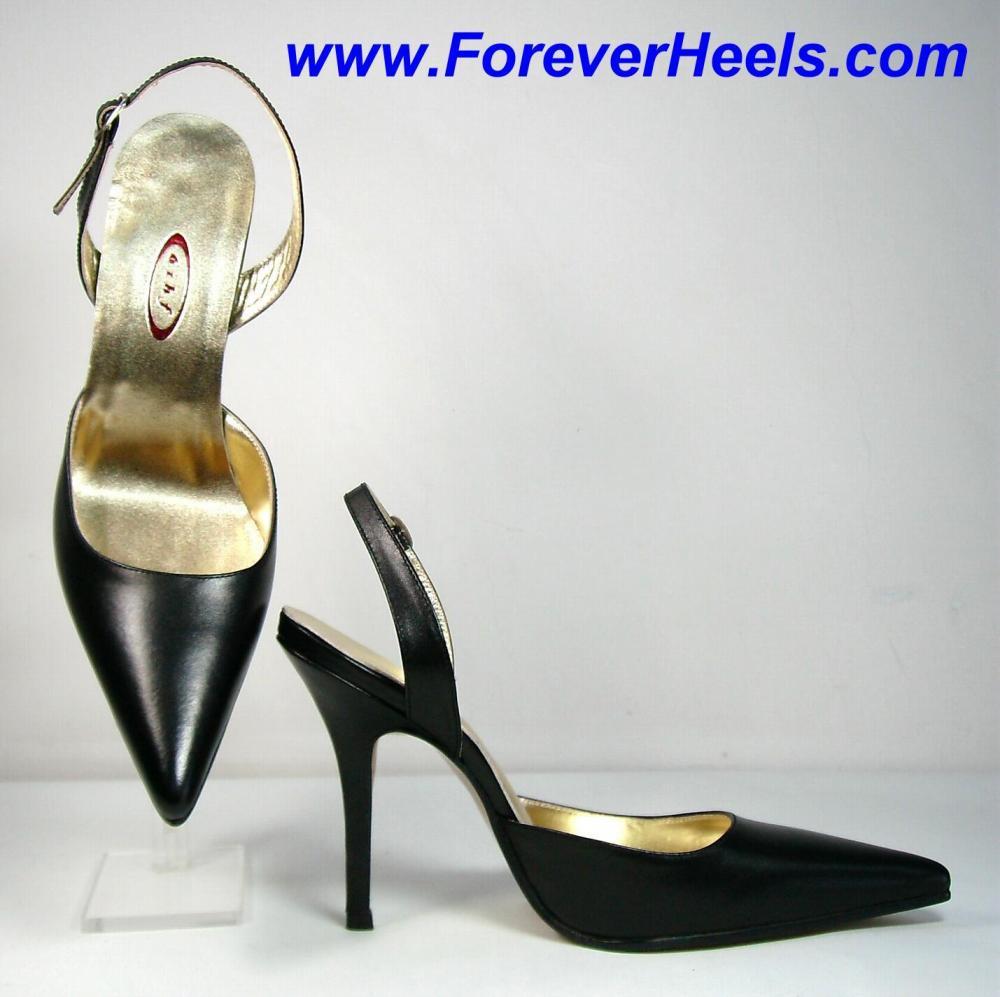 V-Shape Sharp Pointed Toe Slingback High Heel Sandals
