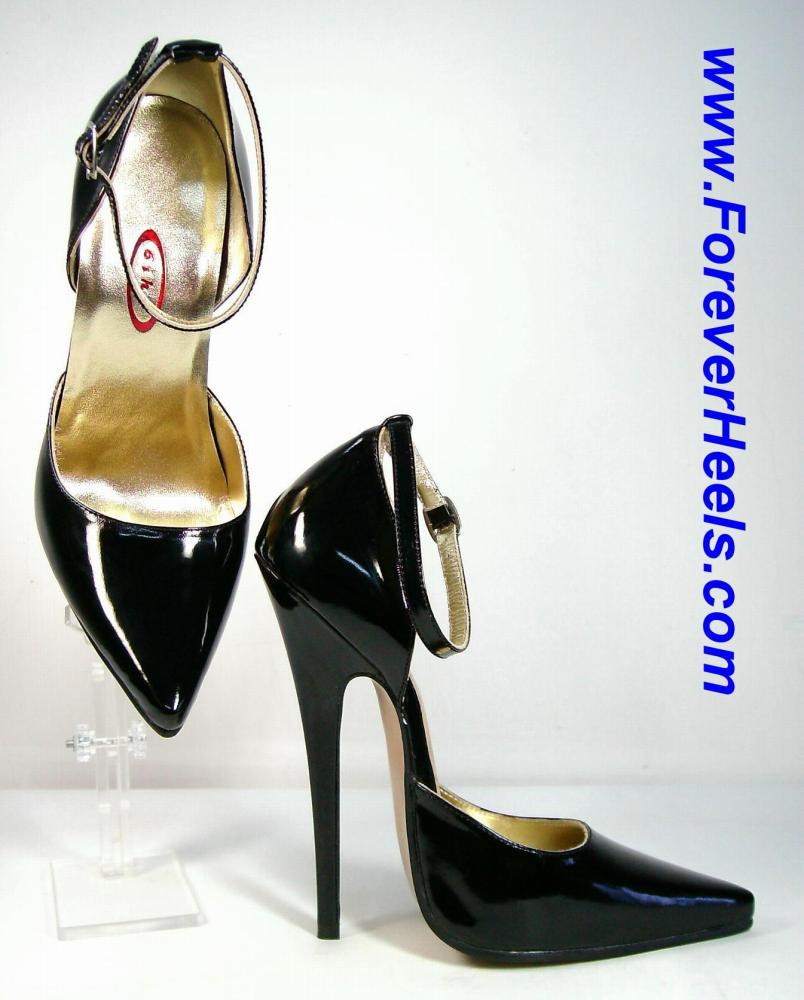 V-Shape Sharp Pointed Toe Sideless High Heel Pumps