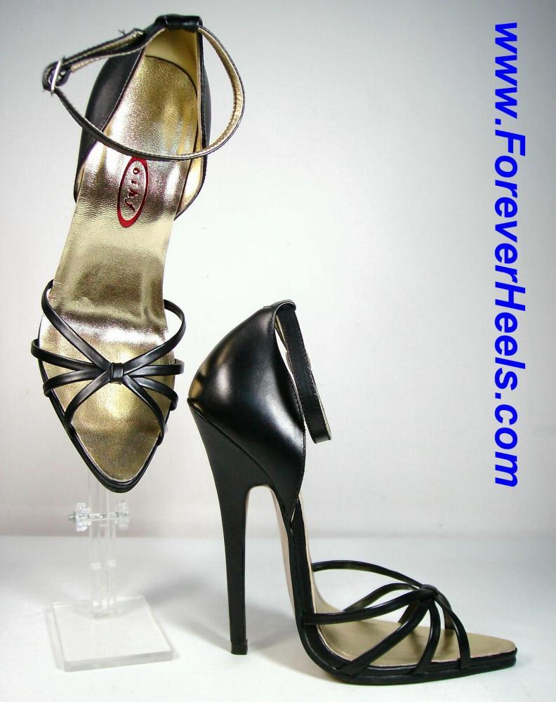 V-Shaped Soles Quadruple Toe Strap Closed Back High Heel Sandals