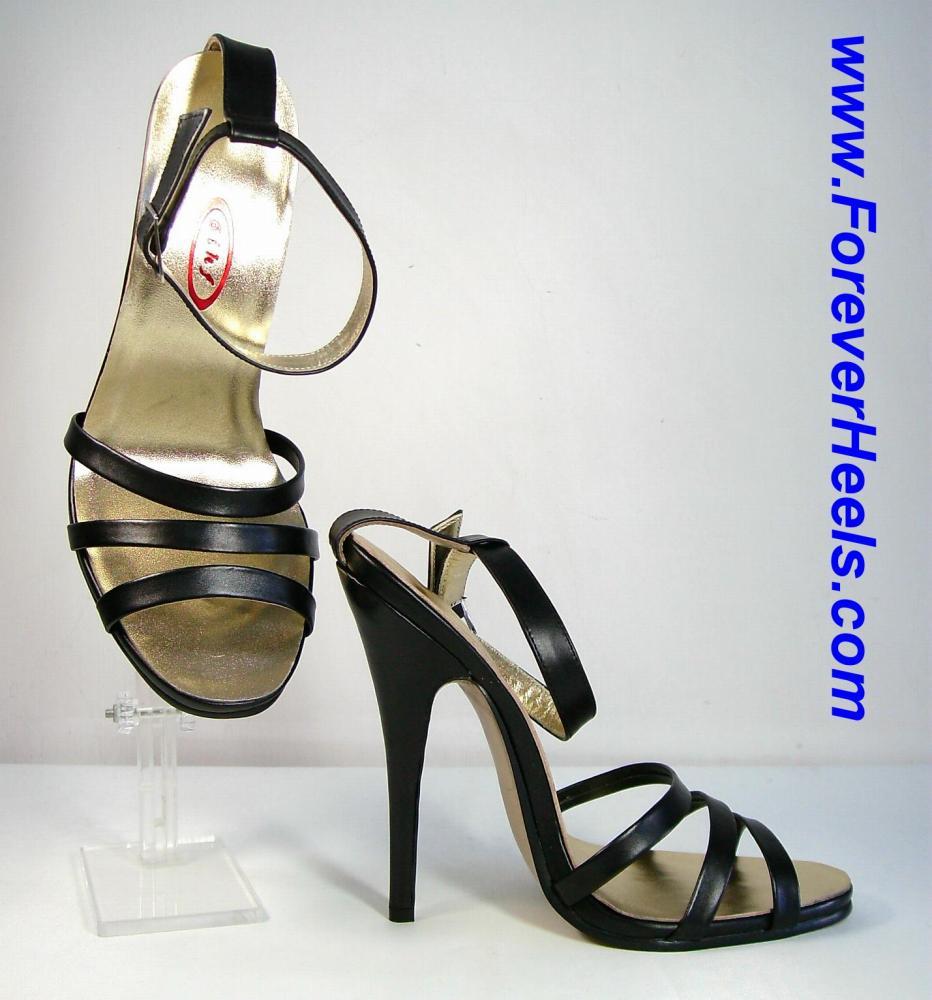 Triple Wide Toe Strap High Heel Sandal
