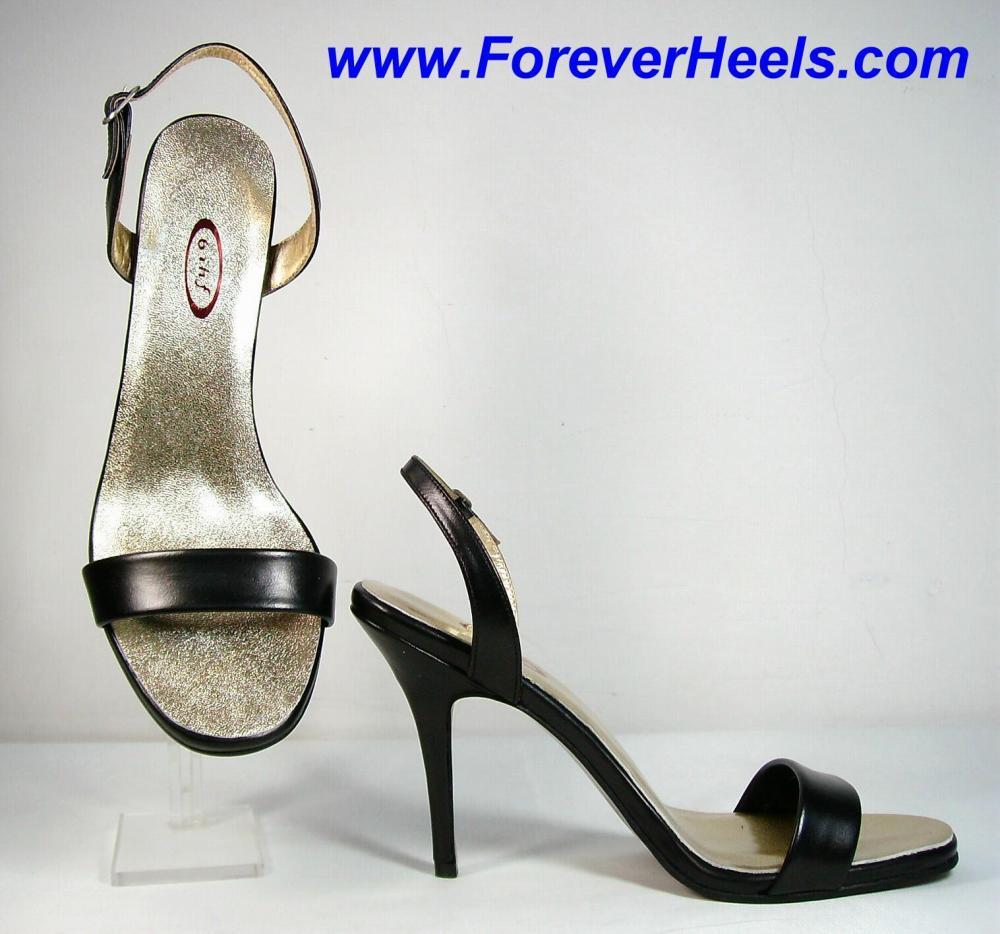 ccfa85e72e1 Peter Chu Shoes 6 Inch Heels Forever (ForeverHeels.com) - S2 SLING   Handmade Leather High Heels
