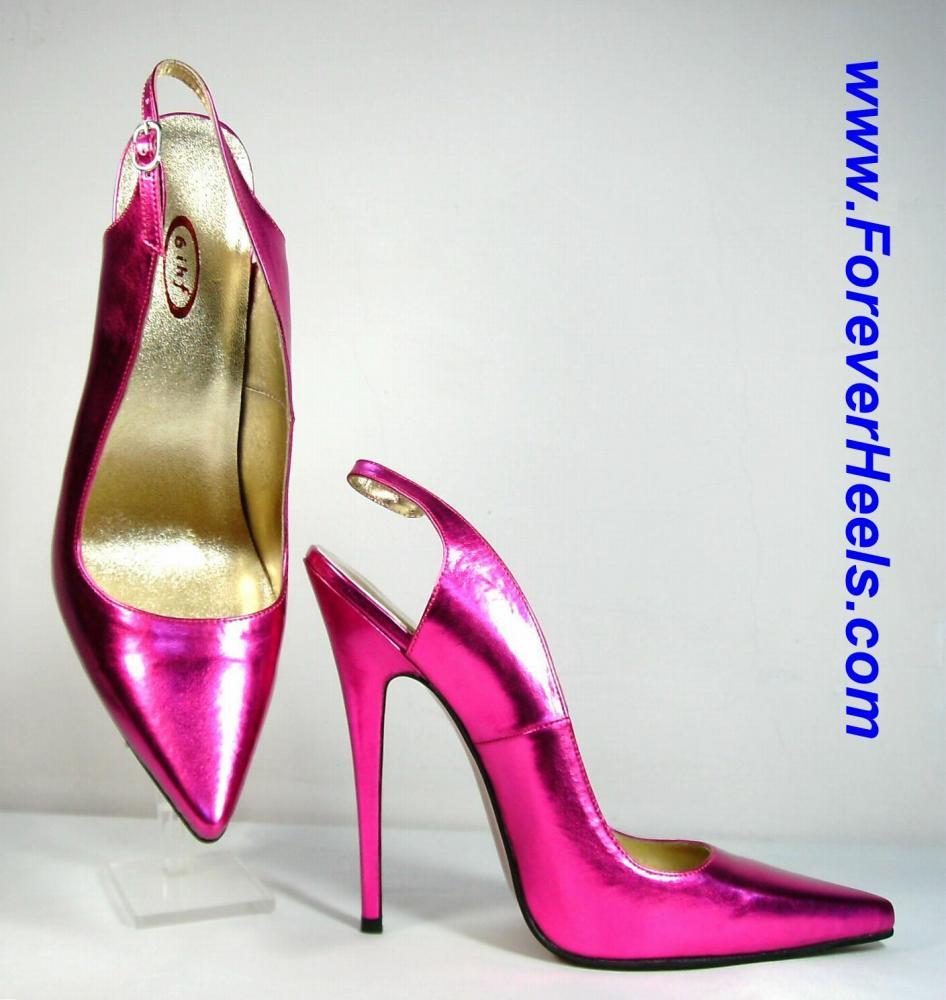 V-Shape Sharp Pointed Toe Slingback High Heel Pumps
