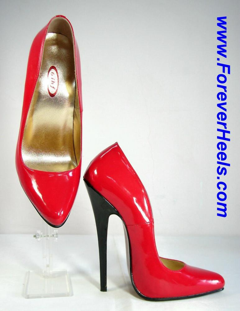 Rounded Pointed Toe 16cm (6.3 inch) Heel Extreme High Heel Pumps