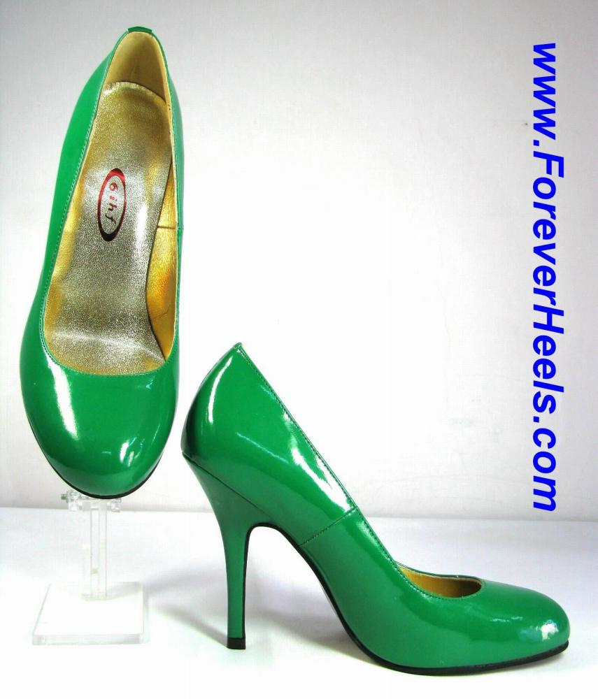 Rounded Toe 4 Inch Stiletto High Heel Pumps