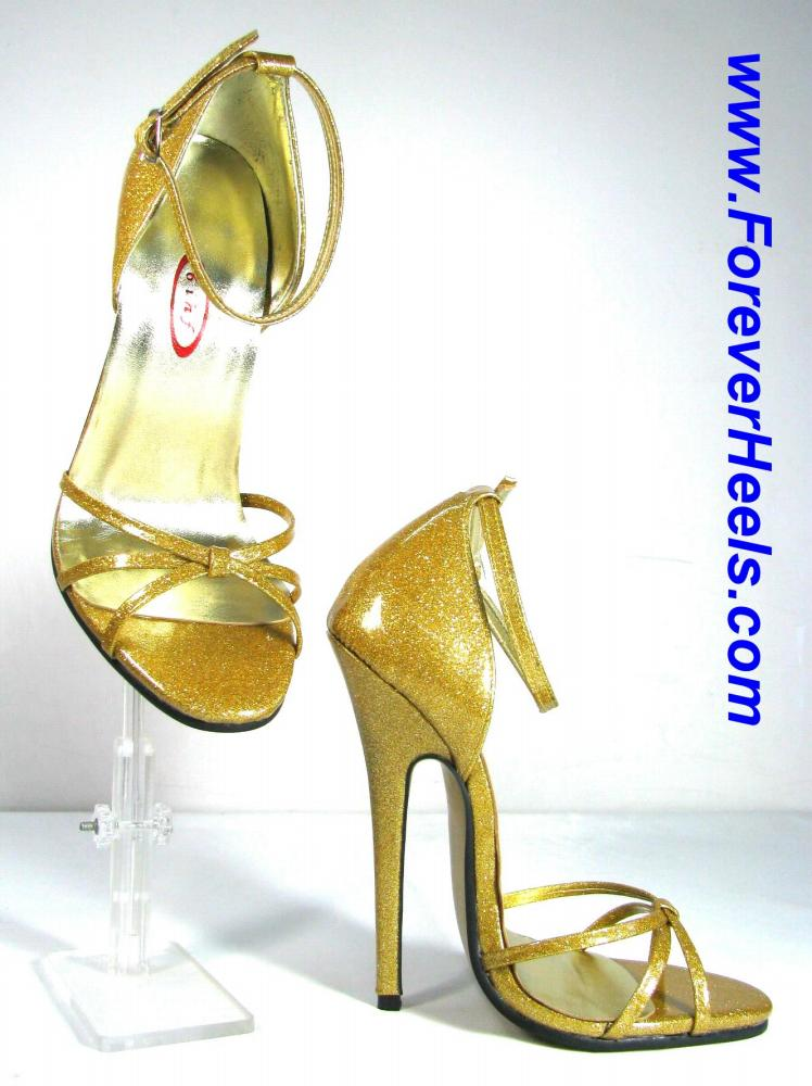 Triple Toe Strap Closed Heel High Heel Sandal